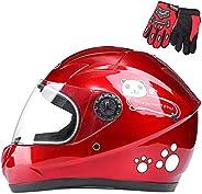 Kids Helmets,Children 2-8 Years Old Four-Wheel Drive Motorcycle Helmet,D.O.T/ECE Certification, Cute Children&