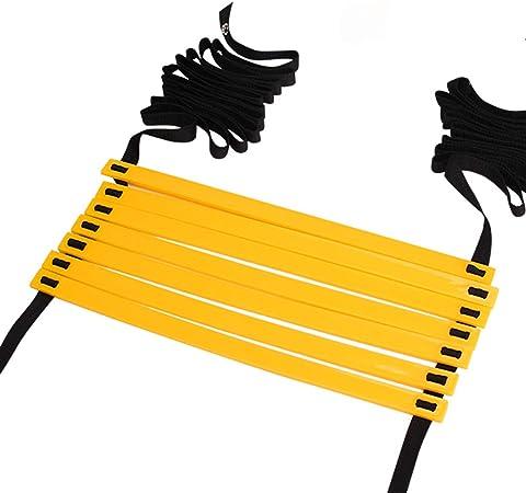 MELAG Escalera Deportiva de la escalerade entrenamientoPeldaños Escalera de Entrenamiento Ejercicio para Fútbol Baloncesto Tenis Material de protección Ambiental PP Competencia Lleno de flexibilidad: Amazon.es: Hogar