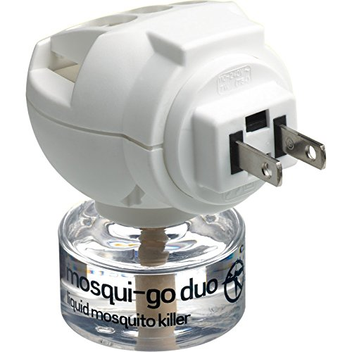 Go Travel Mosqui Go Duo Trans Cont 120V 7W Electric Mosquito Killer System. Complete with 1 Bottle Design-Go 754