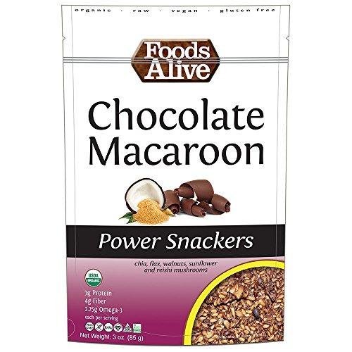 Foods Alive Power Crackers, Chocolate Macaroon, Organic, ...