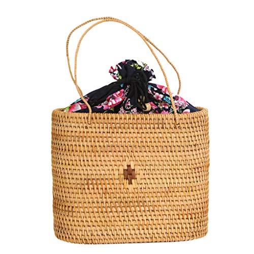 Women's Bag, Rattan Bag - Medicine Box Style - Cosmetic Crossbody Bag - Travel Beach Bag - Hand-Woven Bag by BHM (Image #2)