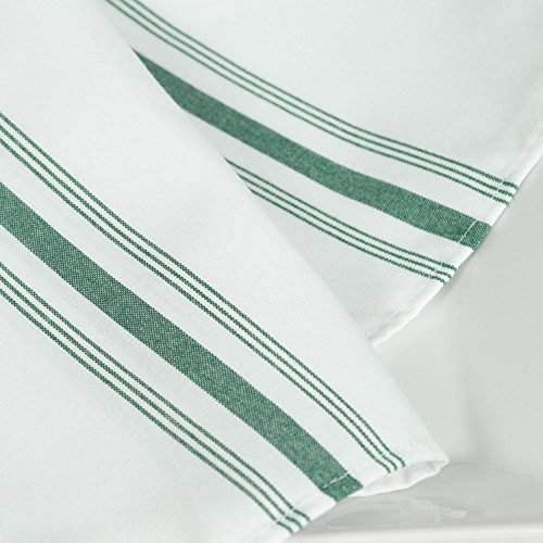 USA_Best_Seller 12 Bistro New Nice Green Stripe Restaurant Dinner Decorative Napkins Catering Wedding Party Event Supply Dining Table Decor