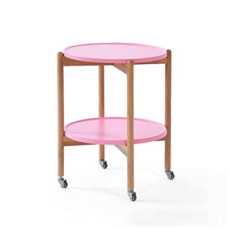 Bedside tables Solid Wood Can Move Round Table Small Round Table ...
