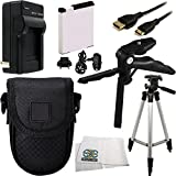 Essential Kit for Canon Powershot Includes NB-11L Battery + AC/DC Rapid Home & Travel Charger + Tripod + Pistol Grip/Table Top Tripod + Mini HDMI Cable + Carrying Case + Microfiber Cleaning Cloth
