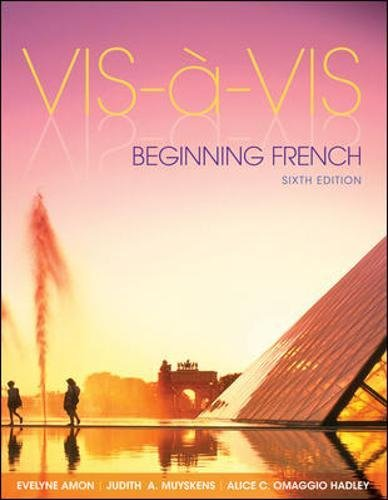 Vis-à-Vis: Beginning French