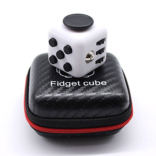 RESTER ABS Material Matt Surface 3.3cm Stress Release Anti-Stress Anxiety and Boredom Fidget Cube Toys (White/Black) (Toy Widgets)