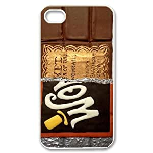 Wonka Bar Chocolate Wrapper Golden Ticket Design Phone Case Cover For Iphone 4 4S case cover ZDI108394