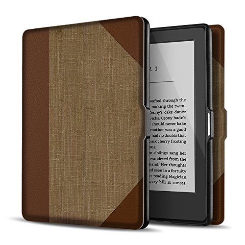 TNP Case for Kindle Paperwhite - Slim & Light Smart Cover Case with Auto Sleep & Wake for All-New Amazon Kindle Paperwhite Fits All 2012, 2013, 2015 and 2016 Versions (Vintage Book)