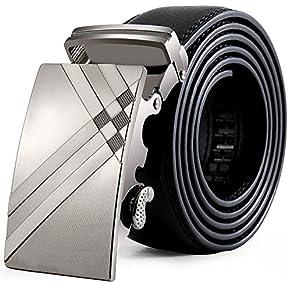 Mens Belts,Kaifongfu Fashion PU Leather Belt with Automatic Buckle Fashion Waistband