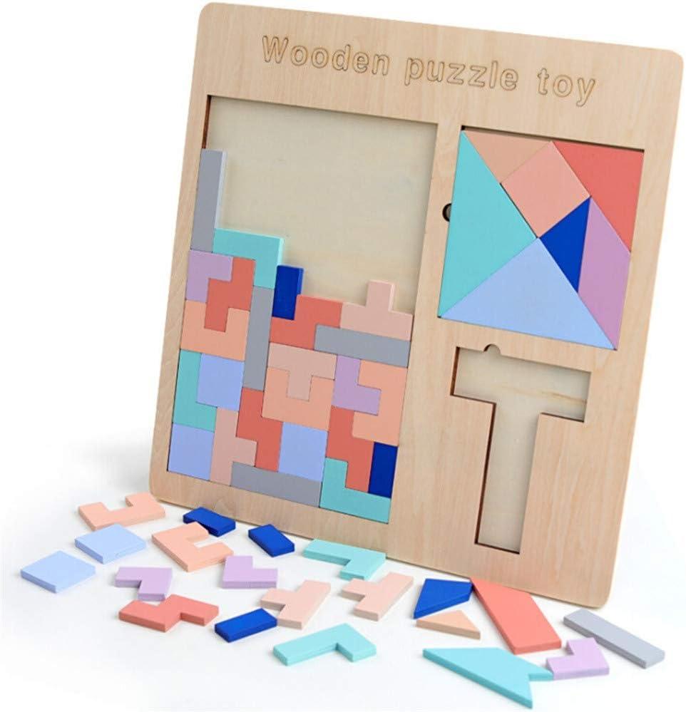 tianranrt madera Tetris Puzzle tangram puzzle cerebro Teasers ...