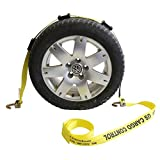US Cargo Control 2'' x 14' OEM Car Carrier Replacement Wheel Strap with 2 Swivel J Hooks and 3 Adjustable Rubber Cleats