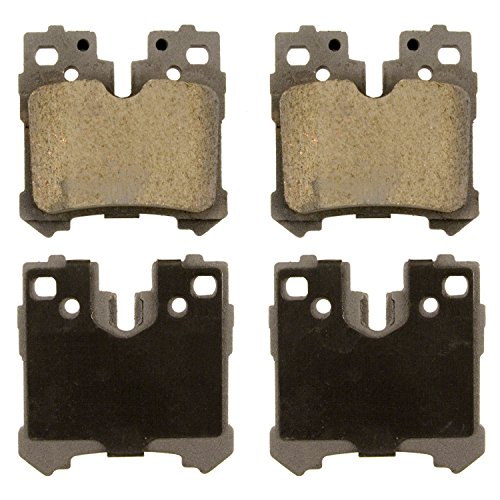 - Wagner ThermoQuiet QC1283 Ceramic Disc Pad Set With Installation Hardware, Rear