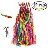 ZKOO Rhythm Ribbon Dance Rainbow Ribbon Set for Kids-12 PACK
