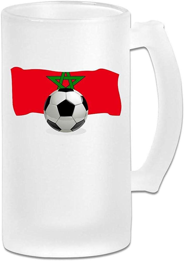 Balón de fútbol con la bandera de Marruecos Jarra de cerveza Stein ...