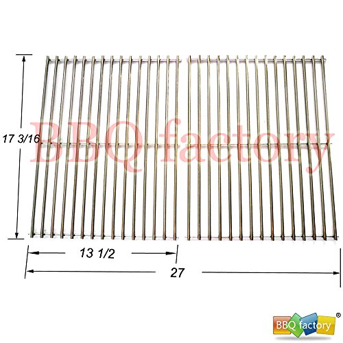 bbq factory stainlessa steel Rod Cooking Grid/Cooking Grates JCX812 Replacement for Brinkmann, Grill Master, Nexgrill and Uniflame Gas Grills by bbq factory
