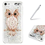 Trumpshop Protective Case for Apple iPod Touch 5 (5th Generation)/ Touch 6 (6th Generation) Creative Flowing Liquid Quicksand + Owl + Ultra Soft Flexible TPU Silicone Cover Shockproof