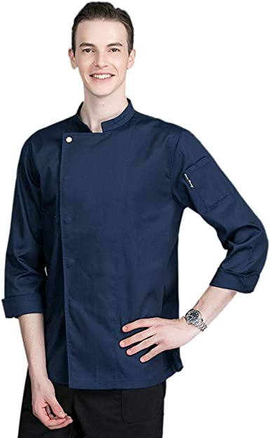 Pinji Chaqueta Chef Camisa de Cocinero Manga Larga de Verano: Amazon.es: Ropa y accesorios