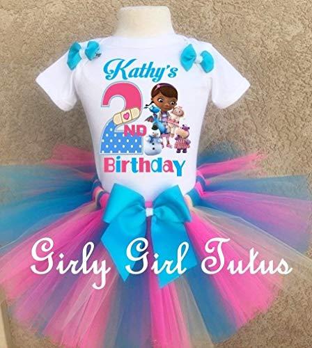 Girls Doc Mcstuffins Animal Doctor Birthday Tutu Outfit -