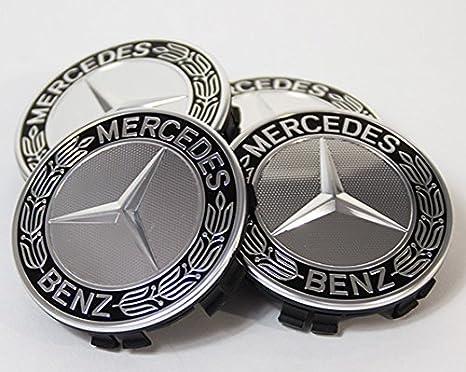 4 x Tapacubos ornamentales de repuesto para tapa de Mercedes Benz azul: Amazon.es: Coche y moto