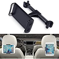 Eschone 360 Degree Rotatable Adjustable Car Seat Cradle Holder for iPad Pro 10.5/9.7/Air/Mini, iPhone X/8/7 Plus/6s, Galaxy Note 8/S8+/S8 (Fit 4-11 Devices) - Black