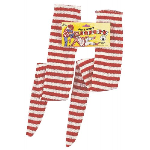 Rubies Red and White Striped Socks for $<!--$8.99-->