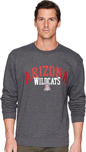 Champion College Men's Arizona Wildcats Eco¿ Powerblend¿ Crew Granite Heather -