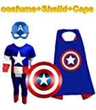 Complete Captain America costume Set kids halloween Cosplay Carnival costumes for children | Fancy Dress Competition | B'day Party | Birthday Gift | B'day gift | Superhero cape (4 to 6 Years)