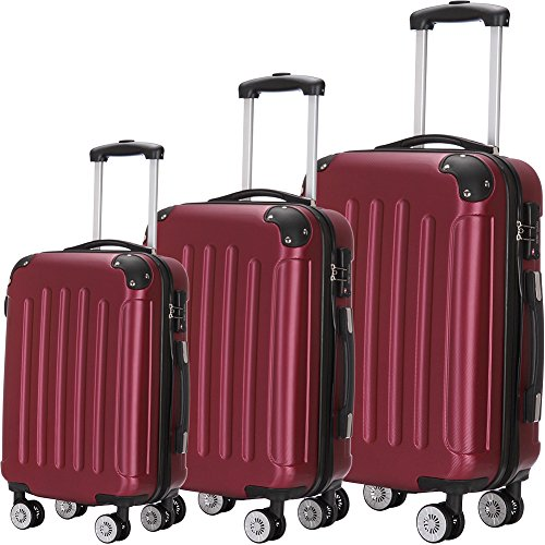 Luggage Set 3 Piece ABS Trolley Suitcase Spinner Hardshell Lightweight Suitcases TSA Spinner Trolley Case