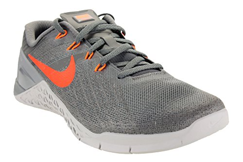 Nike Metcon 3, Scarpe da Ginnastica Uomo, Multicolore (Dark Grey/Hyper Crimson/Wolf Grey), 44 EU
