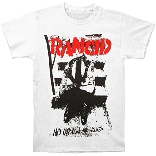 Rancid Men's Wolves Monster Print White T-shirt White