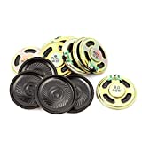 uxcell 15Pcs 40mm Dia 8 Ohm 0.5W Metal Shell Round Internal Mini Magnetic Loudspeaker for Voice Toy