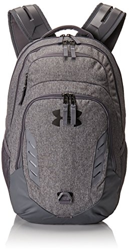 Under Armour Gameday Backpack, Graphite Medium Heat (040)/White, One Size (Backpack Armour Under Gray)