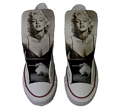 Converse All Star Customized - zapatos personalizados (Producto Artesano) Marilyn Monroe - TG46