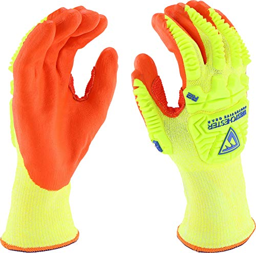 West Chester HVY710HSNFB XL R2 Cut FLX 4 Protection Glove, XL, Yellow Orange