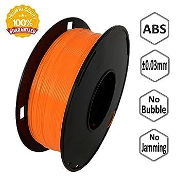 Amazon.com: novamaker abs-1kg1.75-orn ABS 3d impresora 3d ...