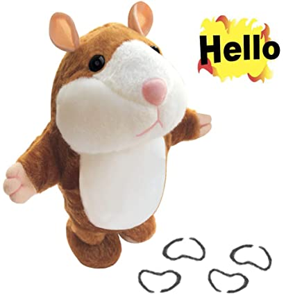 Adorable Mimicry Pet Talking Hamster Repeats What You Say Electronic Plush Toy