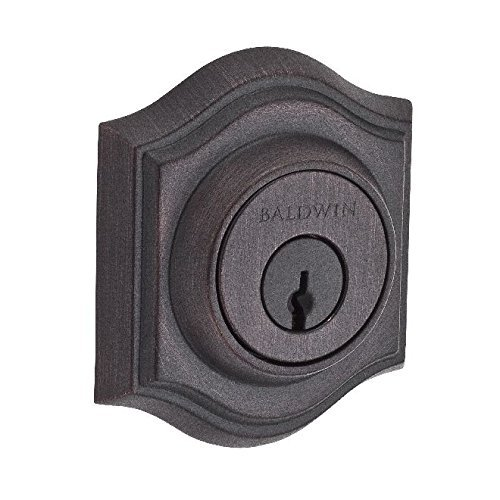 Baldwin Reserve DCTAD112S Double Cylinder Traditional Arch Deadbolt with Smartkey Venetian Bronze Finish