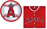 Ananheim Angels MLB Party Supplies Bundle for 18: 18 Plates and 36 Napkins