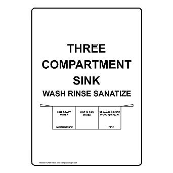 Amazon.com: compliancesigns Vertical Tres Compartimiento ...
