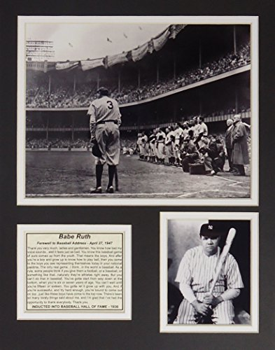 Ruth Babe Framed (Babe Ruth - Farewell 11