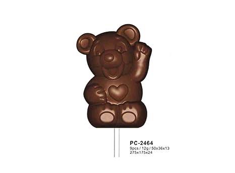 Policarbonato oso de chocolate molde de piruletas/hornear