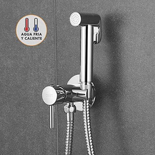 chollos oferta descuentos barato Kibath 1151414 higiene íntima para sustitución del Bidet Monomando fría y Agua Caliente Grifo para el WC con Ducha de Mano