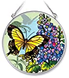 Amia 5682 Medium Circle Suncatcher with Butterfly Design