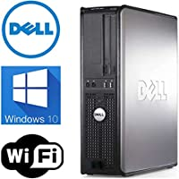 Dell 760 Desktop Computer, Intel Core 2 Duo 2.66 CPU, 4GB DDR3 Memory,New 250GB Hard Drive, WiFi, Windows 10 Pro, (Certified Refurbished)