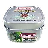 Coleman - Vela aromática de citronela con Mecha de Madera Agrietada