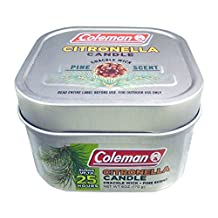 Coleman Pine Scented Citronella Candle, Crackle Wick