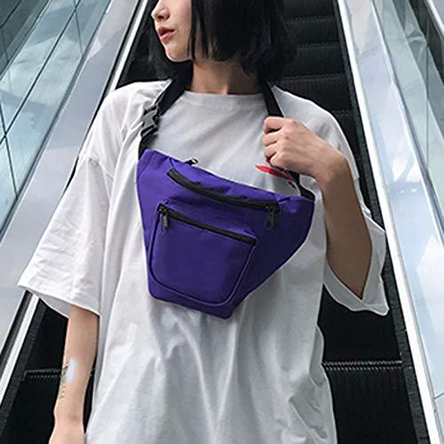 Escalada la Ajustable Cremallera de Hombres Aire para Correa Bolsas Libre Al para de el Wasit Bolso Teléfono Mujeres Correr Bolsa Majome Purple Pecho Yw1I7qgY