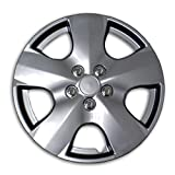 hubcaps for toyota corolla 2003 - TuningPros WSC2-050S15 Hubcaps Wheel Skin Cover Type 2 15-Inches Silver Set of 4