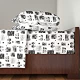 Roostery Bonnie And Clyde 4pc Sheet Set Bonnie And Clyde Collage by Bluevelvet King Sheet Set made with