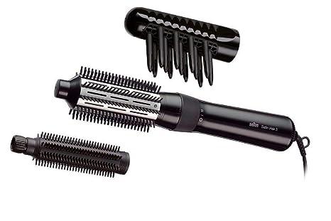 Braun Satin Hair 3 AS330 - Cepillo de pelo moldeador con 2 niveles de temperatura, rizador con 3 accesorios, color negro